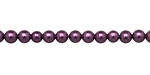Eggplant Shell Pearl Round 4mm