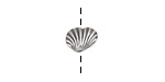 Antique Silver (plated) Arca Shell Bead 10x8mm