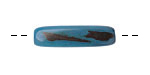 Tagua Nut Turquoise Tube 20-30x5-8mm