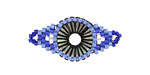 Blue Bell Hand Woven Radiant Eye Focal 30x14mm