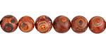 Tibetan (Dzi) Agate (rust) Round 8mm