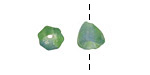 African Recycled Glass Earth Bellflower 8mm