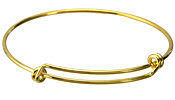 Bright Gold (plated) Adjustable Bangle Bracelet 64mm