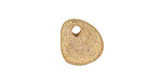 Yellow/Gold Beach Stone Pebble 9-14x12-14mm