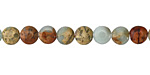 Impression Jasper Puff Coin 6mm