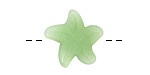 Opaque Spring Green Recycled Glass Starfish 21mm
