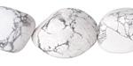 White Howlite Tumbled Nugget 18-25x15-22mm