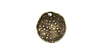 Vintaj Antique Brass (plated) Dotted Dapped Circle 14mm