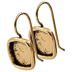 Nunn Design Antique Gold (plated) Small Square Frame Earring 12mm