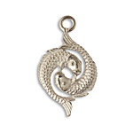 Vintaj Pewter Dancing Fish 22x38mm