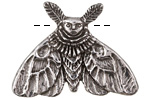 Green Girl Pewter Moth Fairy 43x32mm