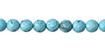 Turquoise Magnesite Faceted Round 6mm