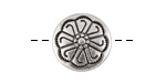 Antique Silver (plated) Daisy Button 12mm