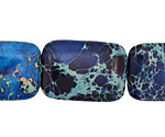 Midnight Blue Impression Jasper Thin Pillow 25x18mm
