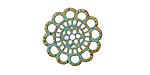 Zola Elements Patina Green Brass Doily 23mm