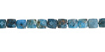Pacific Blue Apatite Small Faceted Cube 4-5mm