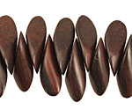 Ebony Wood Cut Horse Eye 9-10x24-26mm