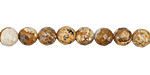 Picture Jasper Faceted Round 6mm