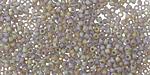 Matte Rainbow Black Diamond Round 11/0 Seed Bead