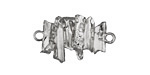 Zola Elements Antique Silver (plated) Clustered Quartz Points Focal Link 27x16mm