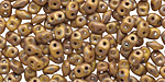 Opaque Yellow Copper Picasso SuperDuo 2x5mm Seed Bead