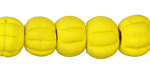 Nepalese Glass Matte Vintage Yellow Beads 9-12x13-15mm