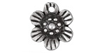 Greek Pewter Flower Charm 21x22mm