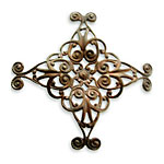 Vintaj Natural Brass Diamond Swirl Filigree 44mm
