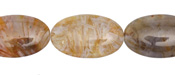 Russian Lace Agate Flat Oval 25x15mm
