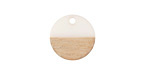 Wood & Alabaster Resin Coin Focal 15mm