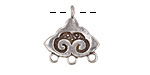 Saki White Bronze Nepali Cloud 1-3 Drop Pendant 19x20mm