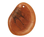 Tagua Nut Honey Groovy Slice 25-35x30-42mm