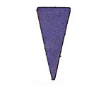 Lillypilly Violet Blue Leather Triangle Tag 17x36mm
