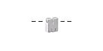 """Sterling Silver Letter """"M"""" Charm Slide 6mm"""