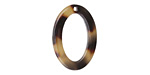 Zola Elements Light Tortoise Shell Acetate Oval Ring 15x22mm