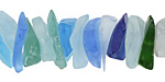 Rainbow Blue Recycled Glass Large Chips 4-10x15-25mm