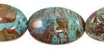 Blue Calsilica Jasper Flat Oval 30x20mm