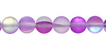Violet Fused Glass AB (matte) Round 8mm