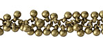 Antique Brass (Plated) Beaded Drop Chain