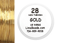 Parawire Non-Tarnish Gold 28 Gauge, 15 Yards
