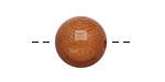Tagua Nut Caramel Round 16mm