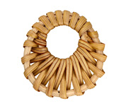 Natural Rattan-Style Woven Gypsy Hoop Focal 38-43mm