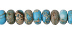 Teal Impression Jasper Rondelle 10mm