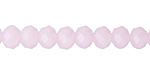 Pink Opal Crystal Faceted Rondelle 8mm