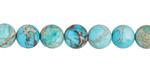 Ocean Blue Impression Jasper (matte) Round 8mm