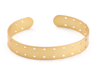 Satin Gold Finish Double-Sided Stitchable Cuff Bracelet 60x10mm