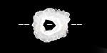 White Agate Druzy Slices 10-18x10-16mm
