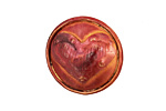 Patricia Healey Copper Heart Button 24mm