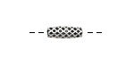 Pewter Quilted Tube 14x4mm