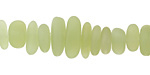Apple Green Recycled Glass Pebble Stick 3-6x7-18mm